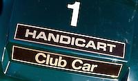 ZANDVOORT - Eeen van de buggy's of handicart van de Kennemer Golfclub. Copyright Koen Suyk