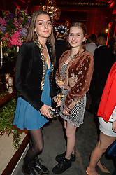 Left to right, ELIZA MONCRIEFFE and PHOEBE FRASER at the Tatler Magazine's Kings & Queens party held at Savini at Criterion, Piccadilly, London on 1st June 2016.