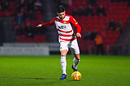 Danny Andrew of Doncaster Rovers (3) shapes to cross the ball during the EFL Sky Bet League 1 match between Doncaster Rovers and Southend United at the Keepmoat Stadium, Doncaster, England on 12 February 2019.