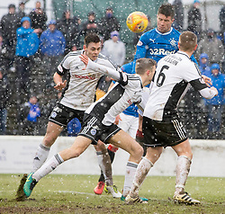 Rangers Josh Windass scores his side's fifth goal of the gamel during the William Hill Scottish Cup, fifth round match at Somerset Park, Ayr.