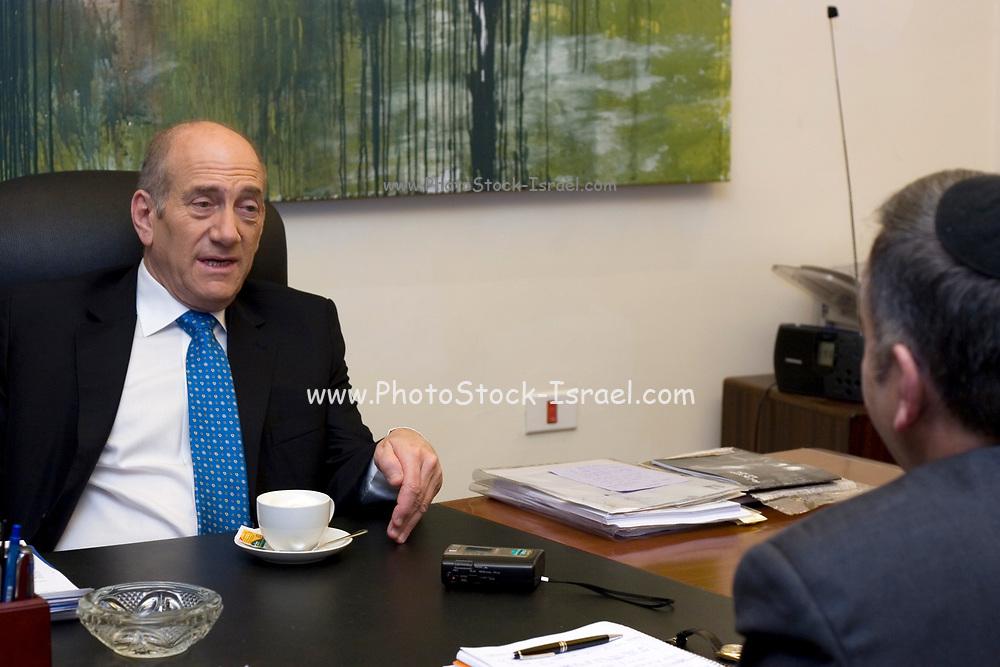 Israel, Jerusalem, Ehud Olmert Israel's Prime Minister in his house March 29th 2007