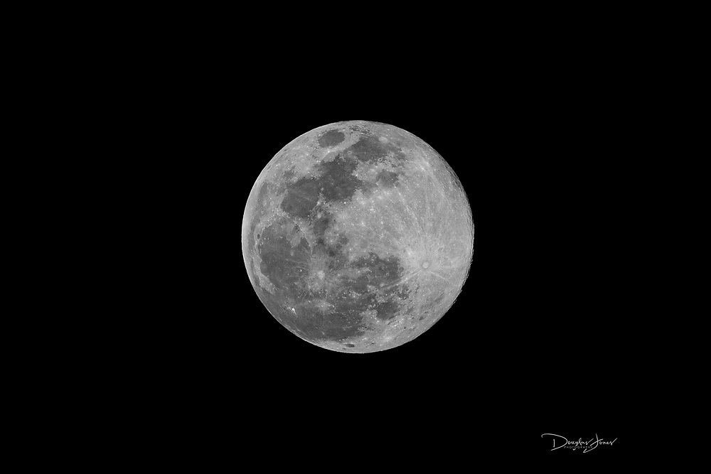APR 7, 2020; Fort Lauderdale, FL USA; Image of the Super Pink Moon from downtown Fort Lauderdale.