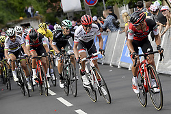 July 3, 2017 - Longwy, france - LONGWY, LUXEMBOURG - JULY 3 : PORTE Richie (AUS) Rider of BMC Racing Team looks at CONTADOR Alberto (ESP) Rider of Trek - Segafredo, MAJKA Rafal (POL) Rider of Team Bora - Hansgrohe, VAN AVERMAET Greg (BEL) Rider of BMC Racing Team and SAGAN Peter (SVK) Rider of Team Bora - Hansgrohe on the Longwy climb in the final of stage 3 of the 104th edition of the 2017 Tour de France cycling race, a  stage of 212 kms between Verviers and Longwy on July 03, 2017 in Longwy, Luxembourg, 3/07/2017 (Credit Image: © Panoramic via ZUMA Press)