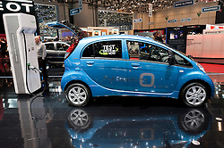 Peugeot electric Ion car at the Geneva Motor Show 2011 Switzerland