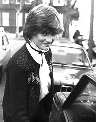 Nov 15, 1980 - London, England, UK - A 19 year old Lady DIANA SPENCER, as she was then known, arrives back at her flat at the very beginning of her relationship with Prince Charles. (Credit Image: © KEYSTONE Pictures USA/ZUMAPRESS.com)