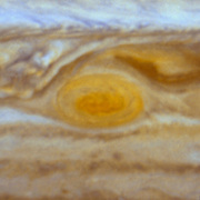 The Red Spot is the largest known storm in the Solar System. With a diameter of 15,400 miles, it is almost twice the size of the entire Earth and one-sixth the diameter of Jupiter itself.