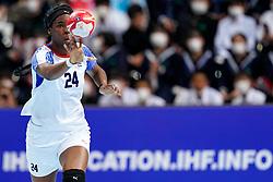 03-12-2019 JAP: Netherlands - Cuba, Kumamoto<br /> Third match 24th IHF Women's Handball World Championship, Netherlands win the third match against Cuba with 51- 23. / Nahomi Marquez Jabique #24 of Cuba