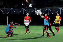 October 10, 2017 - Kolkata, West Bengal, India - Players of the Chile football team during a practice session ahead of their second match at FIFA U 17 World Cup India 2017 on October 10, 2017 in Kolkata. (Credit Image: © Saikat Paul/Pacific Press via ZUMA Wire)
