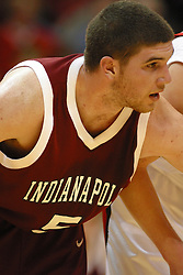 19 November 2005: Greyhound Luke Blank. In a non-conference race that came down to a photo finish, the Illinois State Redbirds slipped past the Indianapolis University Greyhounds 54-50 at Redbird Arena in Normal Illinois