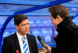 Bristol Rovers Manager, Darrell Clarke pre-match press talk - Photo mandatory by-line: Neil Brookman/JMP - Mobile: 07966 386802 - 08/11/2014 - SPORT - Football - Birkenhead - Prenton Park - Tranmere Rovers v Bristol Rovers - FA Cup - Round One