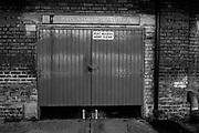 Putney, Greater London, UK, gates to John Stokes Boathouse home of Ranelagh Sailing Club. General Views Putney Hard. Sunday  25th September 2016<br /> <br /> [Mandatory Credit; Peter SPURRIER/Intersport Images]