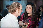 RICHARD WILSON; ALISON JACQUES, Drinks party to launch this year's Frieze Masters.Hosted by Charles Saumarez Smith and Victoria Siddall<br />  Academicians' room - The Keepers House. Royal Academy. Piccadilly. London. 3 July 2014