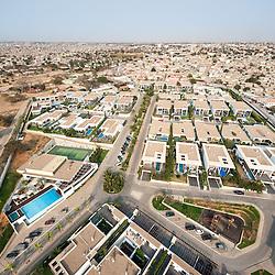 Vista aérea da cidade Luanda, capital de Angola. Bairro Corimba