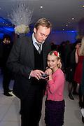 PHILIP GLENISTER; MILLIE GLENISTER, English National Ballet's party before performance of the ' The Nutcracker. St. Martin's Lane Hotel. London 14 December 2011.