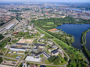 Nederland, Noord-Holland, Gemeente Amsterdam; 02-09-2020; Watergraafsmeer, overzicht Amsterdam Science Park. Het Park huisvest verder onder anderAmsterdam University College, de Beta wetenschappen, Life Science en IT.<br /> Science Park in East of Amsterdam, Equinix Data Centre, University of Amsterdam Faculty of Science, the Amsterdam University College, IT, Life Sciences, advanced technology, and sustainability,<br /> <br /> luchtfoto (toeslag op standaard tarieven);<br /> aerial photo (additional fee required)<br /> copyright © 2020 foto/photo Siebe Swart