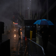 Pedestrians on Exchange Place on Thursday, January 24, 2019. John Taggart/Bloomberg