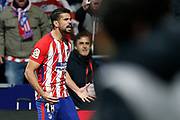 Atletico Madrid's Spanish forward Diego Costa celebrates after scoring during the Spanish Cup, Copa del Rey quarter final, 1st leg football match between Atletico Madrid and Sevilla FC on January 17, 2018 at Wanda Metropolitano stadium in Madrid, Spain - Photo Benjamin Cremel / ProSportsImages / DPPI