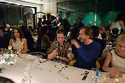 MARC NEWSON AND CHARLOTTE STOCKDALE , Exhibition of work by Marc Newson at the Gagosian Gallery, Davies st. London. afterwards at Mr. Chow, Knightsbridge. 5 March 2008.  *** Local Caption *** -DO NOT ARCHIVE-© Copyright Photograph by Dafydd Jones. 248 Clapham Rd. London SW9 0PZ. Tel 0207 820 0771. www.dafjones.com.
