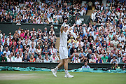 WIMBLEDON - GB -  6th July 2016: The Wimbledon Tennis Championship at the All England Lawn Tennis Club in S.E. London.<br /> <br /> Andy Murray vs Jo-Wilfried TSONGA<br /> ©Ian Jones/ Exclusivepix Media