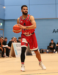 Lewis Champion of Bristol Flyers in possession - Photo mandatory by-line: Arron Gent/JMP - 28/04/2019 - BASKETBALL - Surrey Sports Park - Guildford, England - Surrey Scorchers v Bristol Flyers - British Basketball League Championship