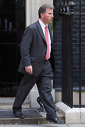 "© Licensed to London News Pictures. 29/08/2013. London, UK. Minister of State at the Cabinet Office Oliver Letwin leaves a meeting of the British cabinet on Downing Street in London today (29/08/2013) as a recalled British Parliament prepares to debate the possibility of ""direct"" military action over recent reports an alleged chemical weapons attack in Syria. Photo credit: Matt Cetti-Roberts/LNP"