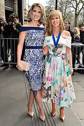 © Licensed to London News Pictures. 08/03/2016. CHARLOTTE HAWKINS and  KATE GARRAWAY arrive for the TRIC Awards. The Television and Radio Industries Club's annual awards ceremony, honour's the best performers and programmes  of the last year .London, UK. Photo credit: Ray Tang/LNP