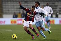 """Saphir Taider Bologna Alvaro Gonzalez Lazio.Bologna 10/12/2012 Stadio """"Dall'Ara"""".Football Calcio Serie A 2012/13.Bologna v Lazio.Foto Insidefoto Paolo Nucci."""