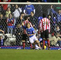 Photo: Mark Stephenson.<br /> Birmingham City v Sunderland. Coca Cola Championship. 20/02/2007.Birmingham's Dj Cambell scores there goal