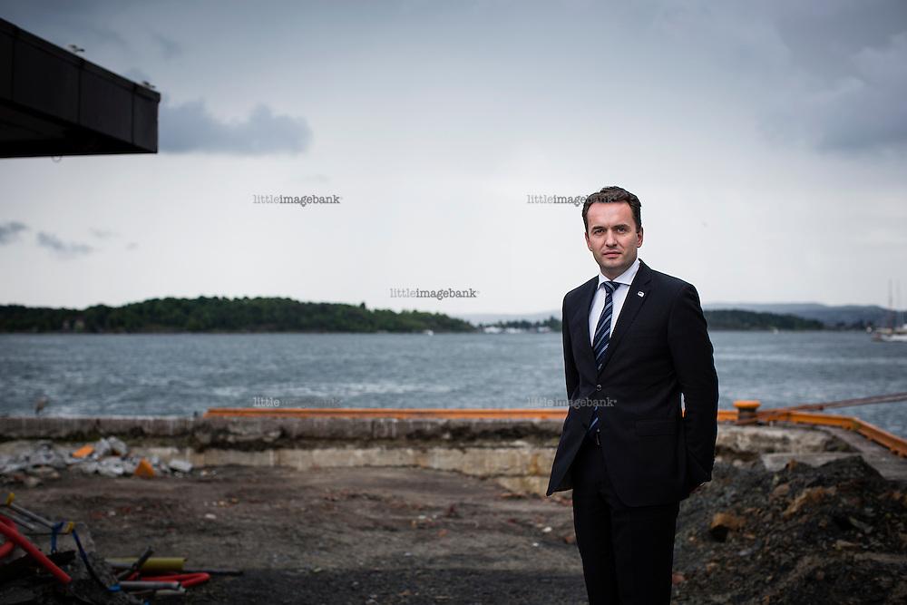 Oslo, Norge, 13.08.2014. Stian Berger Røsland er politiker og representerer partiet Høyre. Han er byrådsleder i Oslo. Foto: Christopher Olssøn