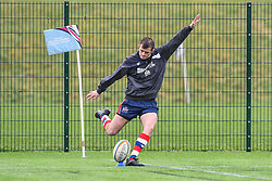Nathan Chamberlain of Bristol Academy U18 during the pre match warm up - Mandatory by-line: Craig Thomas/JMP - 03/02/2018 - RUGBY - SGS Wise Campus - Bristol, England - Bristol U18 v Harlequins U18 - Premiership U18 League