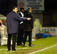 Photo: Leigh Quinnell.<br /> Hartlepool United v Swindon Town. Coca Cola League 1.<br /> 02/01/2006. Hartlepool boss Martin Scott points out a problem.
