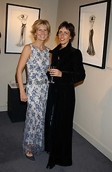 Left to right, LINDKA CIERACH and TRUDY GOOD at a private view of fashion designer Lindka Cierach's Couture Dresses drawn by Trudy Good held at the Belgravia Gallery, 45 Albemarle Street, London on 21st September 2005.<br />