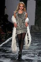 Sasha Pivovarova walks the runway wearing Miss Sixty Fall 2009 Collection