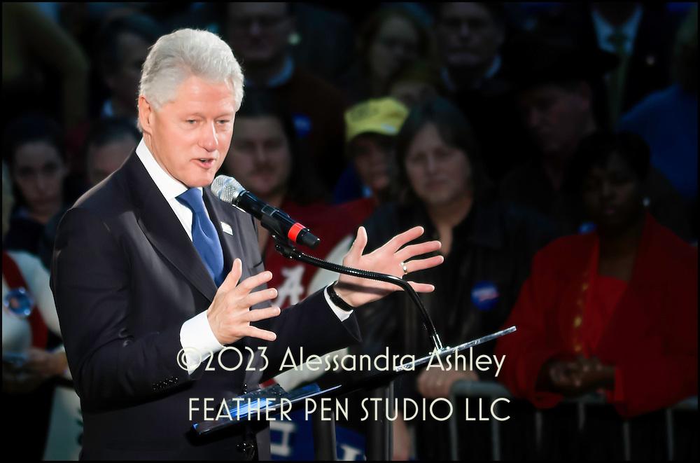 Bill Clinton speaking at rally for Hillary Rodham Clinton. February 2008, Huntsville, Alabama.