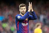 FC Barcelona's Gerard Pique during La Liga match. March 4,2018. (ALTERPHOTOS/Acero)
