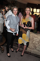 Left to right, VISCOUNTESS LINLEY and CLEMENTINE FRASER at a lunch in aid of the charity Kids Company held at Mark's Club, 46 Charles Street, London on 3rd October 2011.