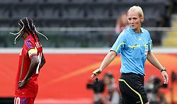 06.07.2011, Commerzbank-Arena, Frankfurt, GER, FIFA Women Worldcup 2011, Gruppe D, Äquatorial-Guinea (EQG) vs. Brasilien (BRA) ,. im Bild Schiedsrichterin Bibiana Steinhaus pfeift das Spiel . // during the FIFA Women´s Worldcup 2011, Pool D, Equatorial Guinea vs Brazil on 2011/07/06, Commerzbank-Arena, Frankfurt, Germany. EXPA Pictures © 2011, PhotoCredit: EXPA/ nph/  Karina Hessland       ****** out of GER / CRO  / BEL ******