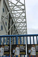 Fotball<br /> Foto: SBI/Digitalsport<br /> NORWAY ONLY<br /> <br /> Elland Road Stadium. 08/11/2004.<br /> Leeds United's Elland Road stadium, with posters offering free match tickets.