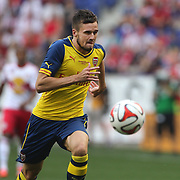 Carl Jenkinson, Arsenal, in action during the New York Red Bulls Vs Arsenal FC,  friendly football match for the New York Cup at Red Bull Arena, Harrison, New Jersey. USA. 26h July 2014. Photo Tim Clayton