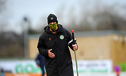 Forest Green Rovers groundsmen makes final adjustments prior to kick off- Mandatory by-line: Nizaam Jones/JMP - 16/01/2021 - FOOTBALL - innocent New Lawn Stadium - Nailsworth, England - Forest Green Rovers v Port Vale - Sky Bet League Two