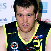 Fenerbahce Ulker's Oguz SAVAS during their Turkish Basketball league Play Off Final first leg match Efes Pilsen between Fenerbahce Ulker at the Ayhan Sahenk Arena in Istanbul Turkey on Thursday 20 May 2010. Photo by Aykut AKICI/TURKPIX