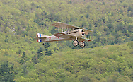 Wurtsboro, NY - A Spad VII reproduction built by Carl Swanson takes off from Wurtsboro Airport on May 11, 2008.