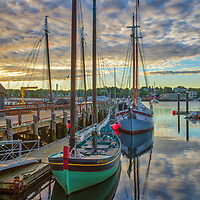 New England harbor scenery of Maritime Gloucester on Cape Ann in Gloucester, Massachusetts.<br /> <br /> Beautiful Cape Ann sunrise photography pictures of Maritime Gloucester Harbor are available as museum quality photography prints, canvas prints, acrylic prints, wood prints or metal prints. Fine art prints may be framed and matted to the individual liking and interior design decorating needs.<br /> <br /> Good light and happy photo making!<br /> <br /> My best,<br /> <br /> Juergen