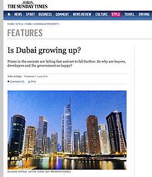 The Sunday Times; Skyline of Dubai