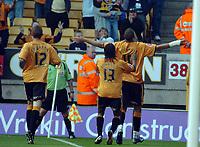 Photo: Kevin Poolman.<br />Wolverhampton Wanderers v Colchester United. Coca Cola Championship. 14/10/2006. Jay Bothroyd celebrates his goal for Wolves.