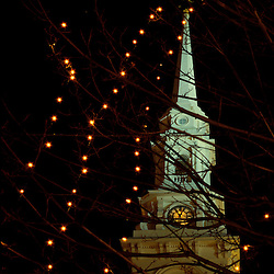 The landmark church (The North Church) in Portsmouth's Market Square.  Portsmouth, NH