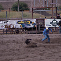 Rodeo riders compete in the 2011 Bozeman Stampede in Bozeman, Montana.