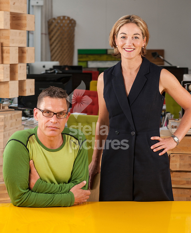 Picture by Daniel Hambury/Stella Pictures Ltd +44 7813 022858<br /> 14/06/2013<br /> Alex de Rijke and Sadie Morgan of DRMM at their London offices.