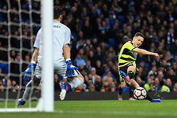 1st March 2017 - FA Cup - 5th Round (Replay) - Manchester City v Huddersfield Town - Man City goalkeeper Claudio Bravo saves from Jack Payne of Huddersfield - Photo: Simon Stacpoole / Offside.