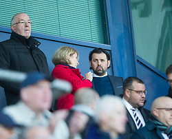 Falkirk's chairman Margaret Lang and new manager Paul Hartley. Falkirk 2 v 0 Dunfermline, Scottish Challenge Cup played 7/9/2017 at The Falkirk Stadium.